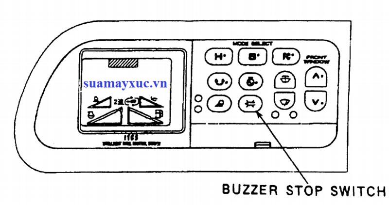 Nút bấm trên cabin máy xúc kobelco sk200-2